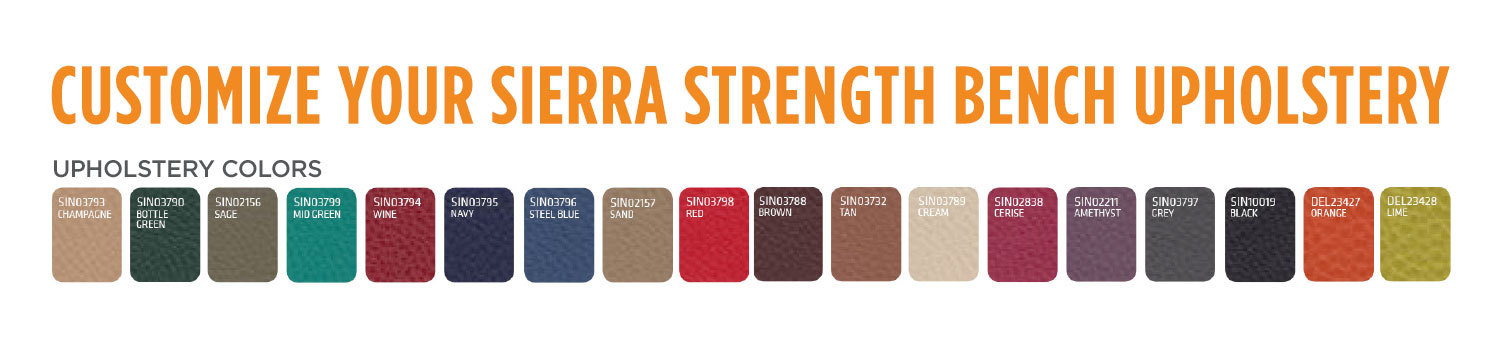 sierra strength bench options