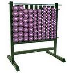 Premium Dumbbell Storage Rack w/ 44 Neoprene Pairs DB