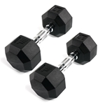 Rubber Octagonal Dumbbell