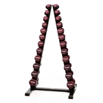 Neoprene/Vinyl Dumbbell Vertical Rack w/Neoprene DB Set 1-15 lbs