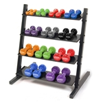Neoprene/Vinyl Dumbbell 4-Tier Storage Rack