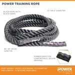 "Power Training Rope 1.5"" dia. - Black"