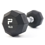 Rubber Octagonal Dumbbells