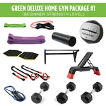 Green Deluxe Home Gym Package #1