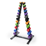 Neoprene/Vinyl Vertical Dumbbell Rack with Dumbbell Set