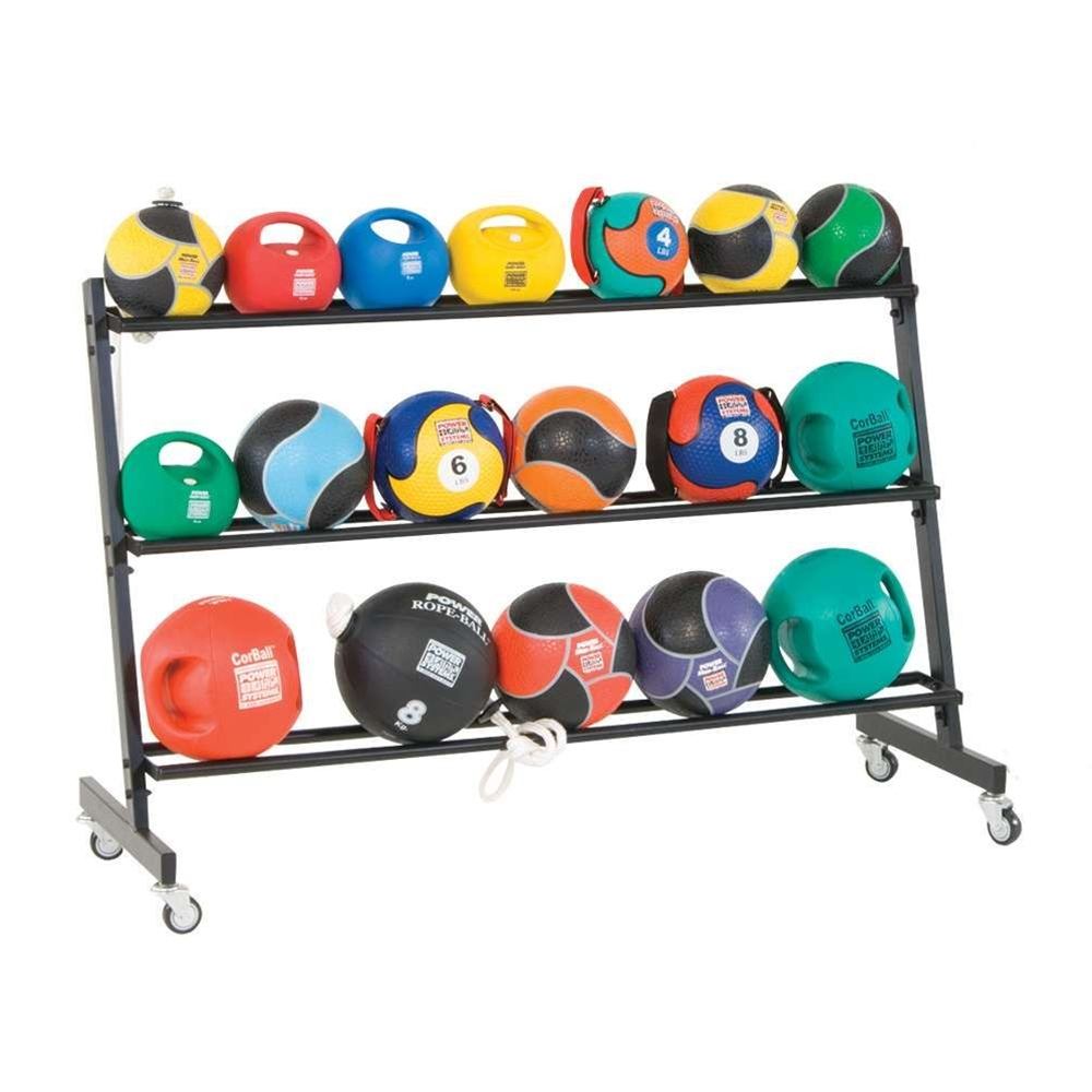 3-Tier Med Ball Rack Black
