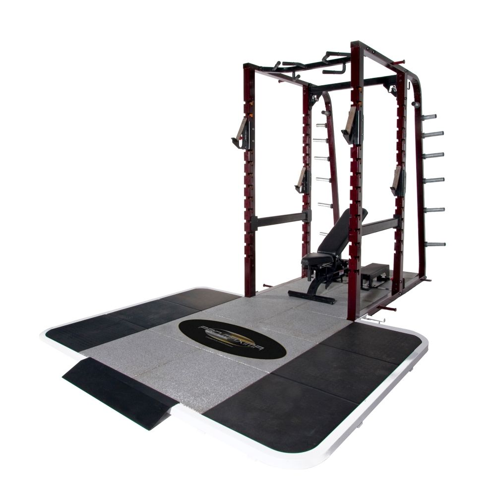 Pro Maxima PL-365 Pro Full Power Rack w/Rubber Platform