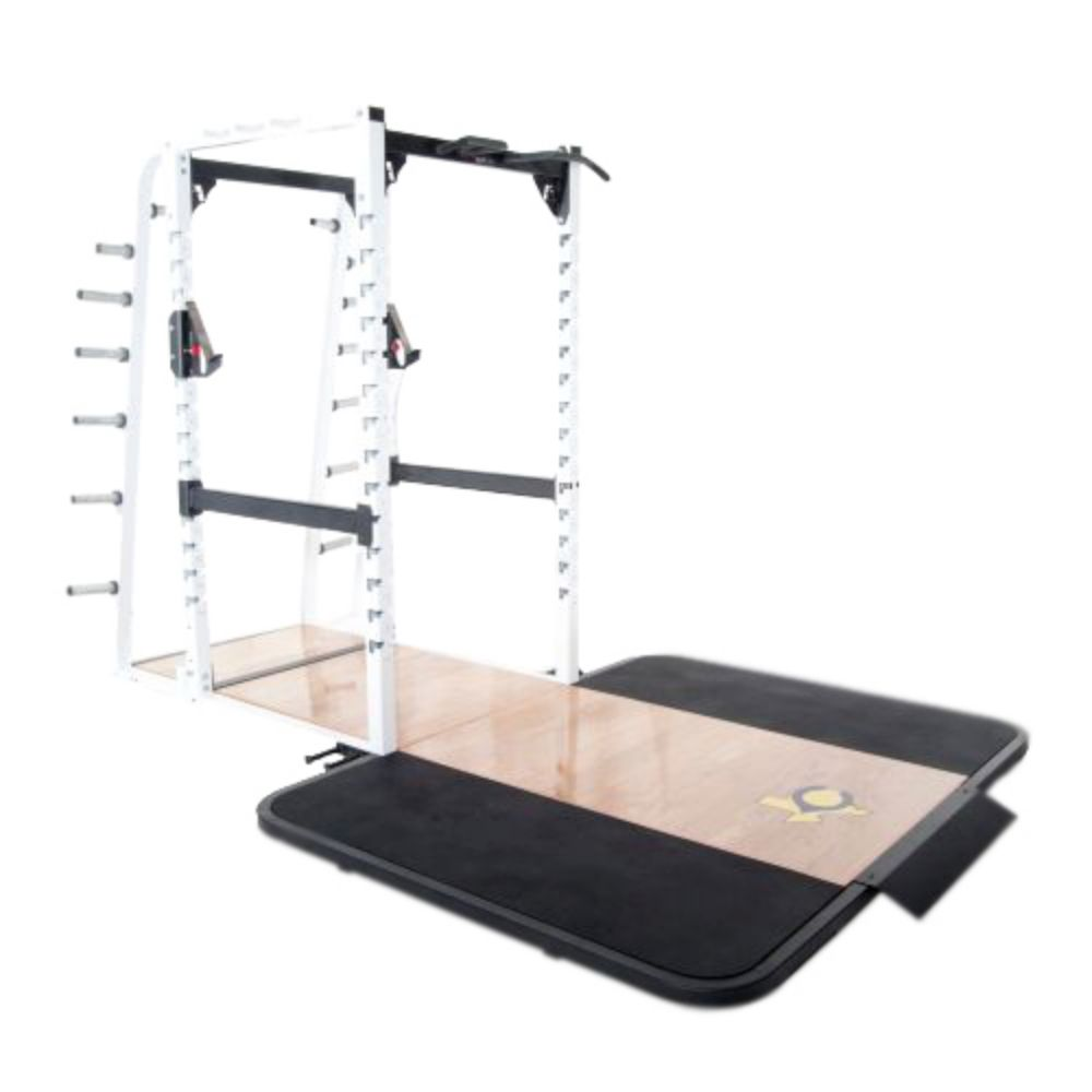 Pro Maxima PL-370 Pro Full Power Rack w/Oak Platform