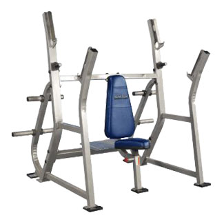 Pro Maxima PLR-200 Olympic Shoulder Press w/ Spotter Stand and Weight Storage