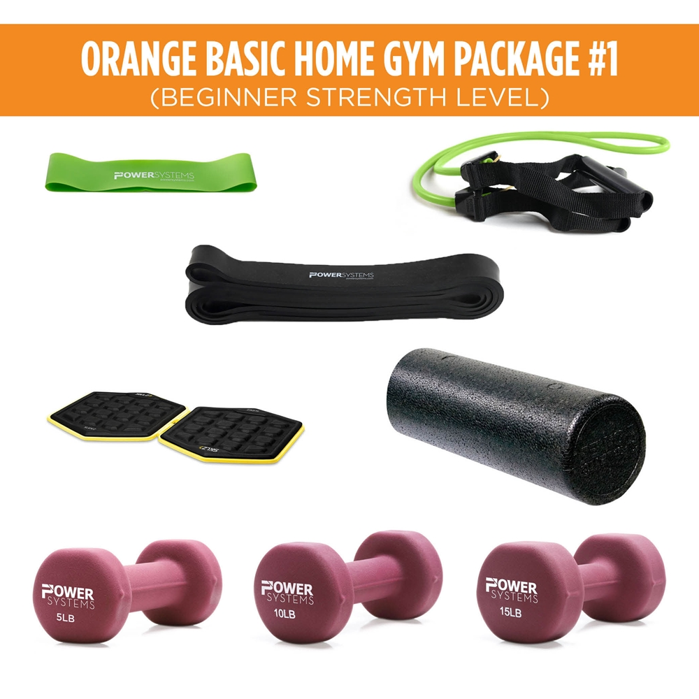 Orange Basic Home Gym Package #1