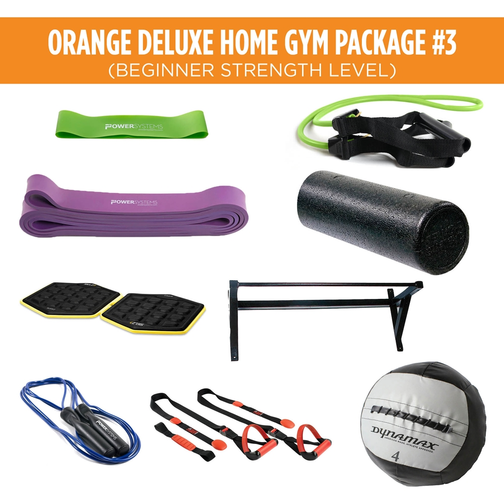 Orange Deluxe Home Gym Package #3