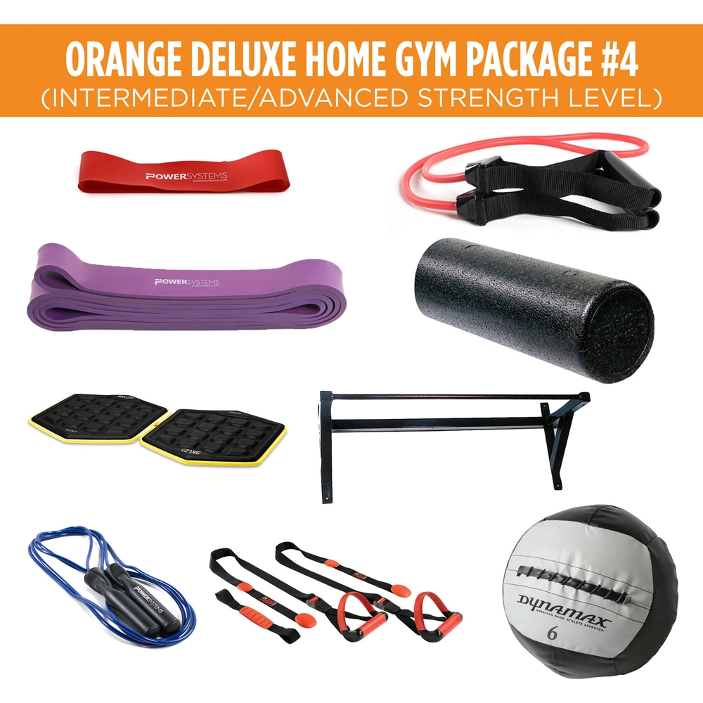 Orange Deluxe Home Gym Package #4