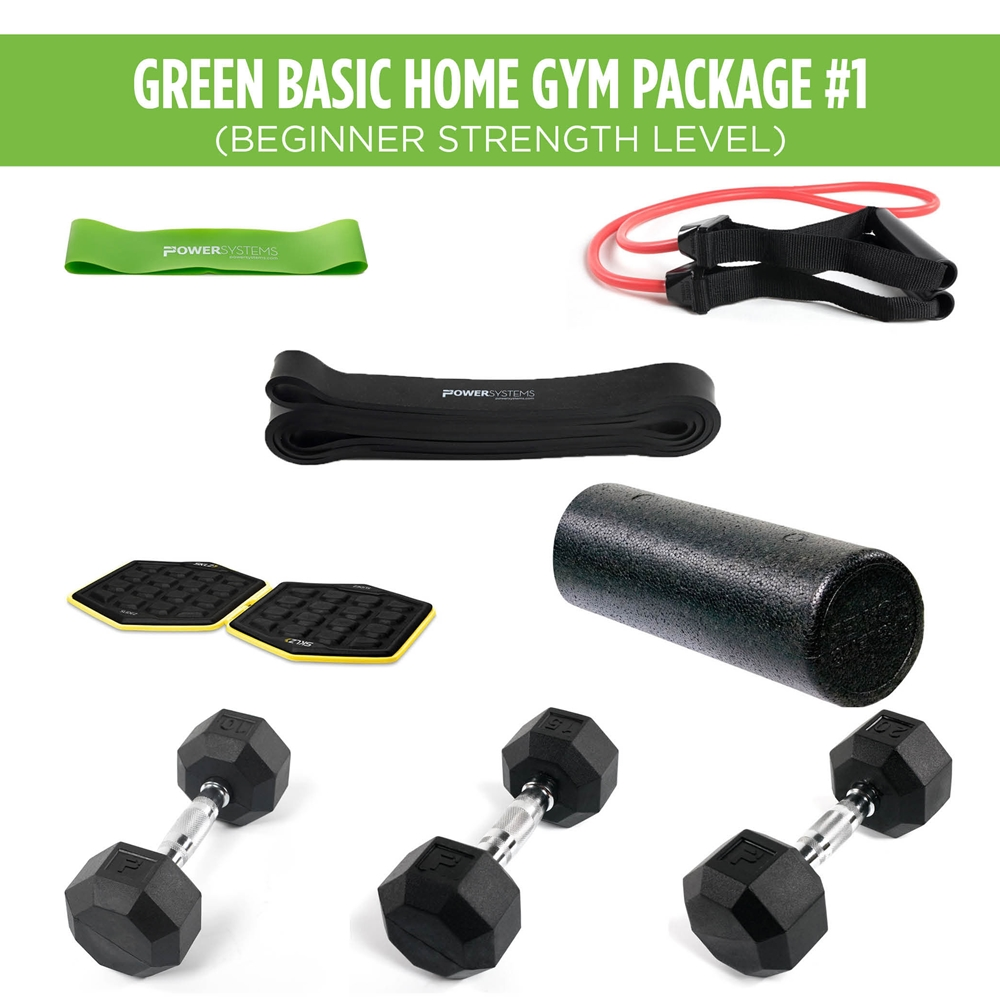 Green Basic Home Gym Package #1