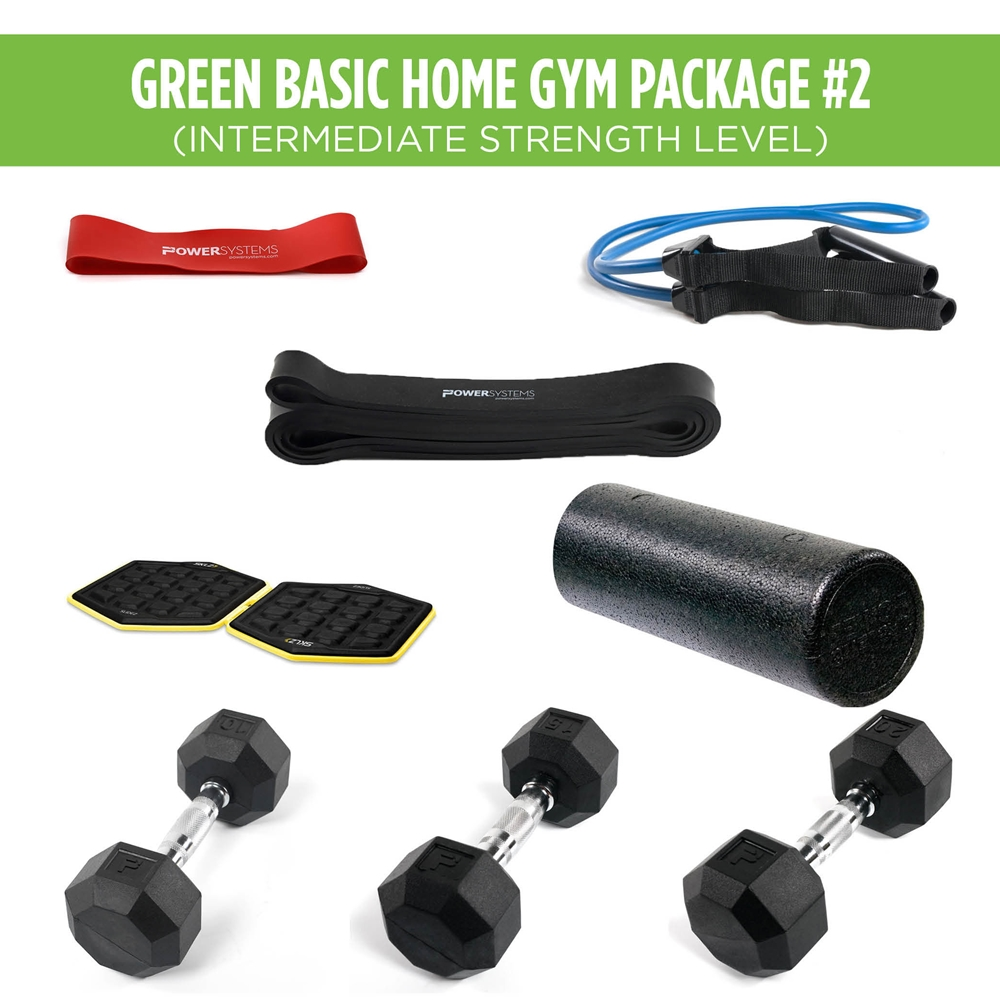 Green Basic Home Gym Package #2