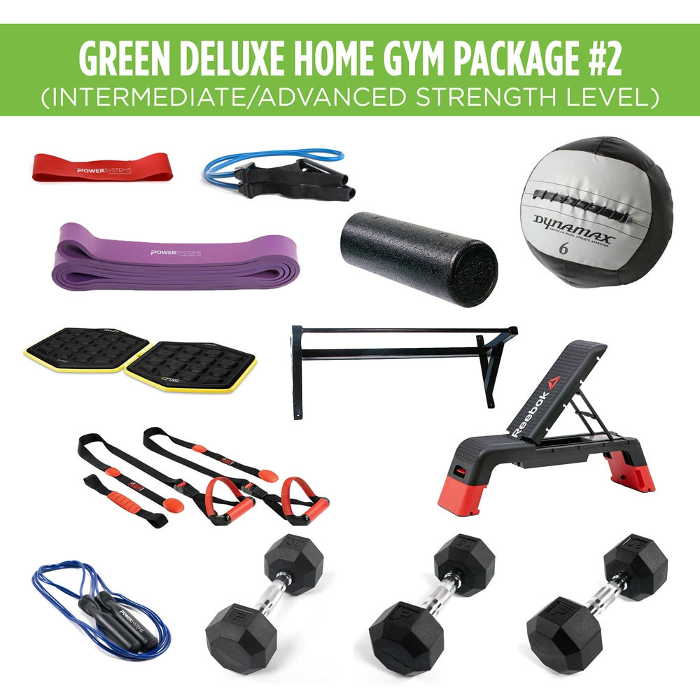 Green Deluxe Home Gym Package #2