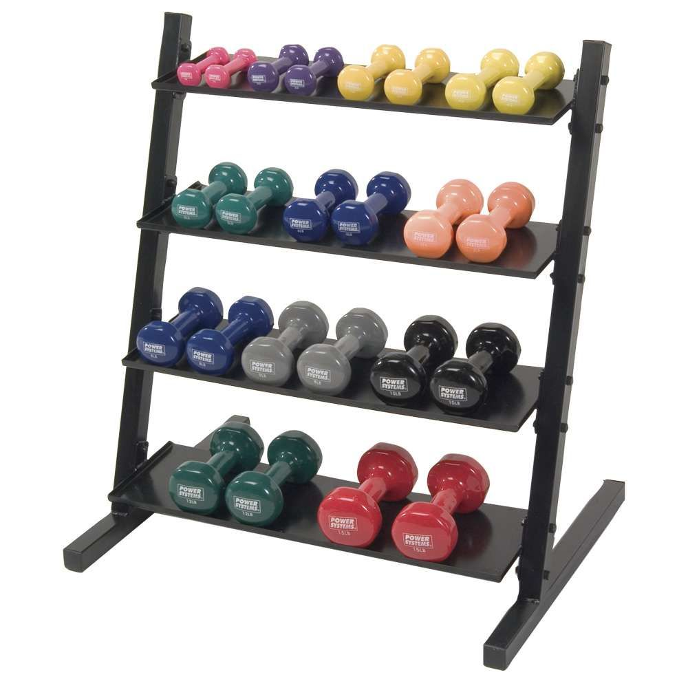 Free Weights Storage: Dumbbell Rack For Neoprene And Vinyl Weights