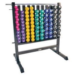 Dumbbell Storage Rack w/ 44 Deluxe Vinyl DB Pairs