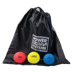 Power Throw-Ball Baseball Size Complete Medicine Ball Set and Bag