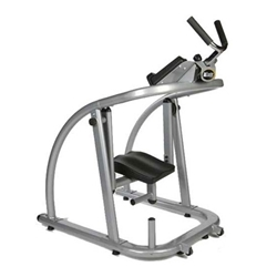 Suitable for all fitness levels, the Ab Coaster combines the simplicity of the ab crunch with the effectiveness of the hanging leg raise. Its curve track mimics natural spine flexion, so anyone can perform an abdominal lift in perfect form. Plate-loading posts allow more advanced users to add resistance. Ergonomic carriage places you in a comfortable kneeling position, isolating the abdominal region.