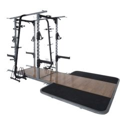 Pro Maxima PL-310 Pro Double Sided Half Rack w/ Oak Platform