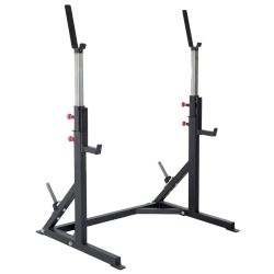 Pro Maxima FW-24 Adjustable Squat Stand w/ Cross Member and Weight Storage