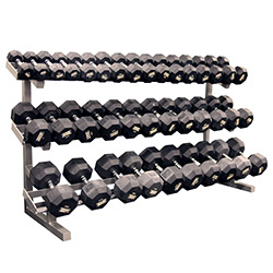 Pro Maxima FW-58A 3-Tier Dumbbell Rack w/Saddles