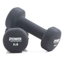 https://www.power-systems.com - Premium Neoprene Dumbbell Black 1 lbs Pair