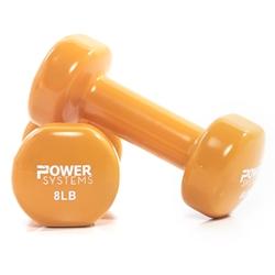 https://www.power-systems.com - Deluxe Vinyl Dumbbell Prime 1 lb Orange Pair
