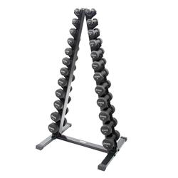 https://www.power-systems.com - Neoprene/Vinyl Dumbbell Vertical Rack w/Black Neoprene DB Set 1-15 lbs