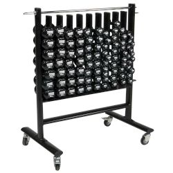 Dumbbell Storage Rack w/44 Pairs of APPLE Vinyl DB