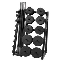 Standard CardioBarbell - 51 inch Bar - 10 Sets and Rack