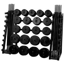 Standard CardioBarbell - 20 Sets and 20 Set Rack