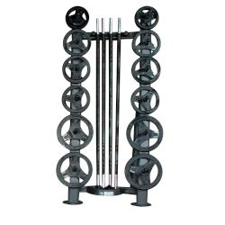 Deluxe CardioBarbell 51in - 10 Sets and Rack