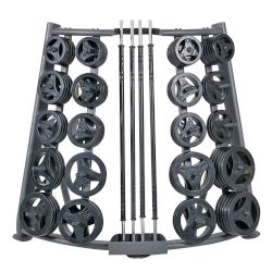 Deluxe CardioBarbell 51in - 20 Sets and Rack