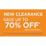 New Clearance - Save Up to 70% Clearance Items