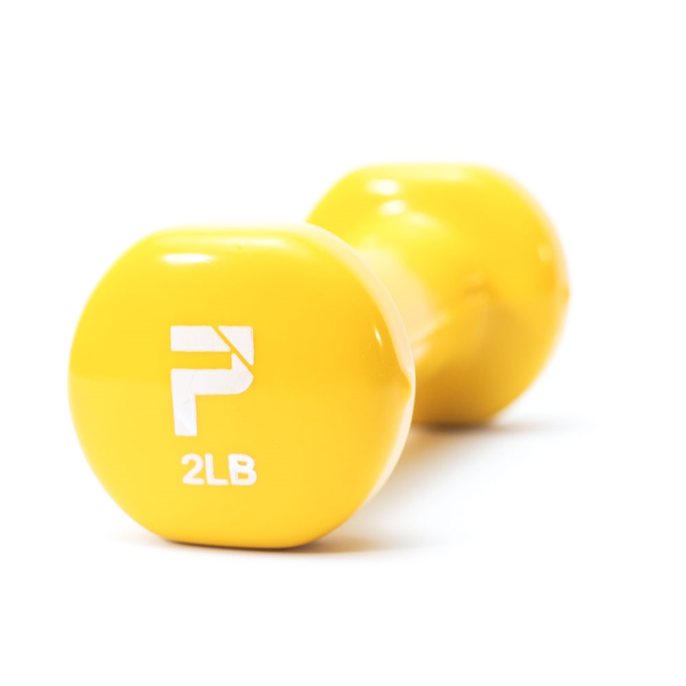Deluxe Vinyl Dumbbell-2 lbs Yellow