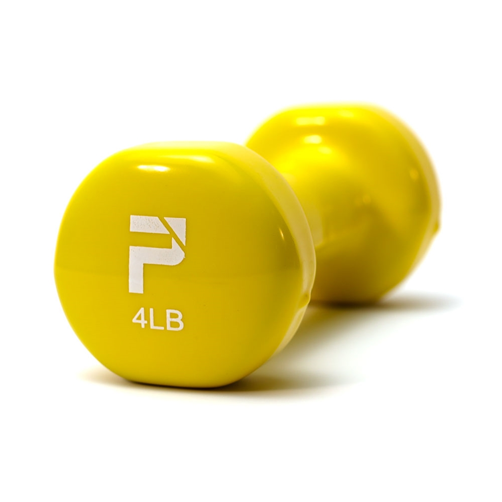 Deluxe Vinyl Dumbbell-4 lbs Lt Yellow