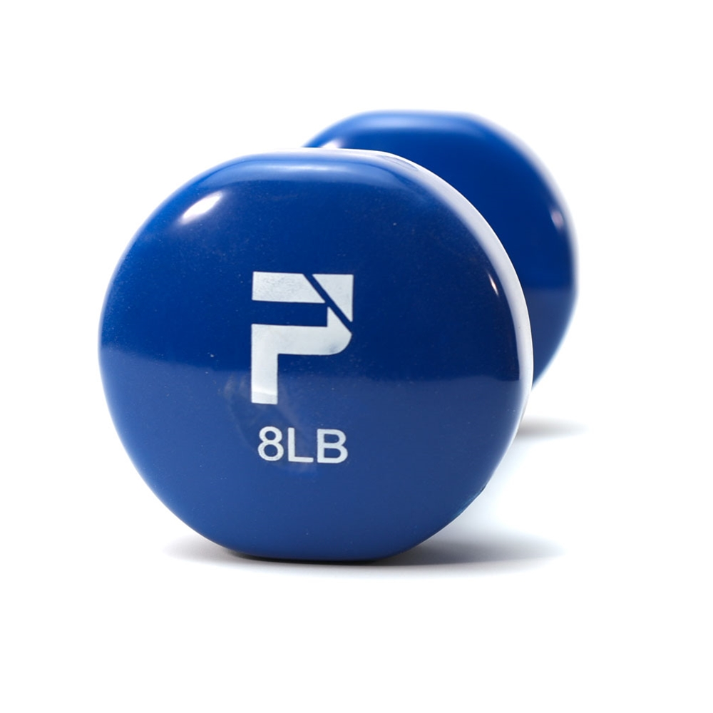 Deluxe Vinyl Dumbbell-8 lbs Dark Blue