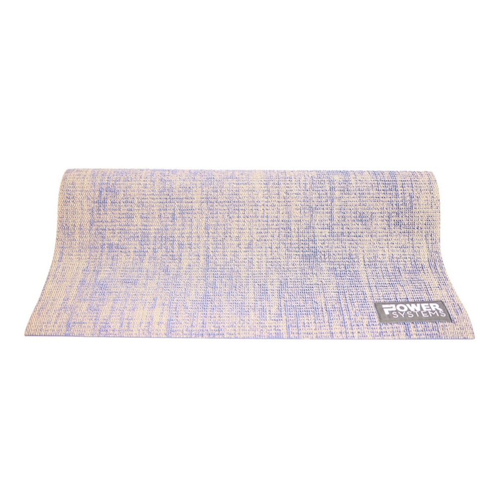 Natural Jute Yoga Mat-Blue Single