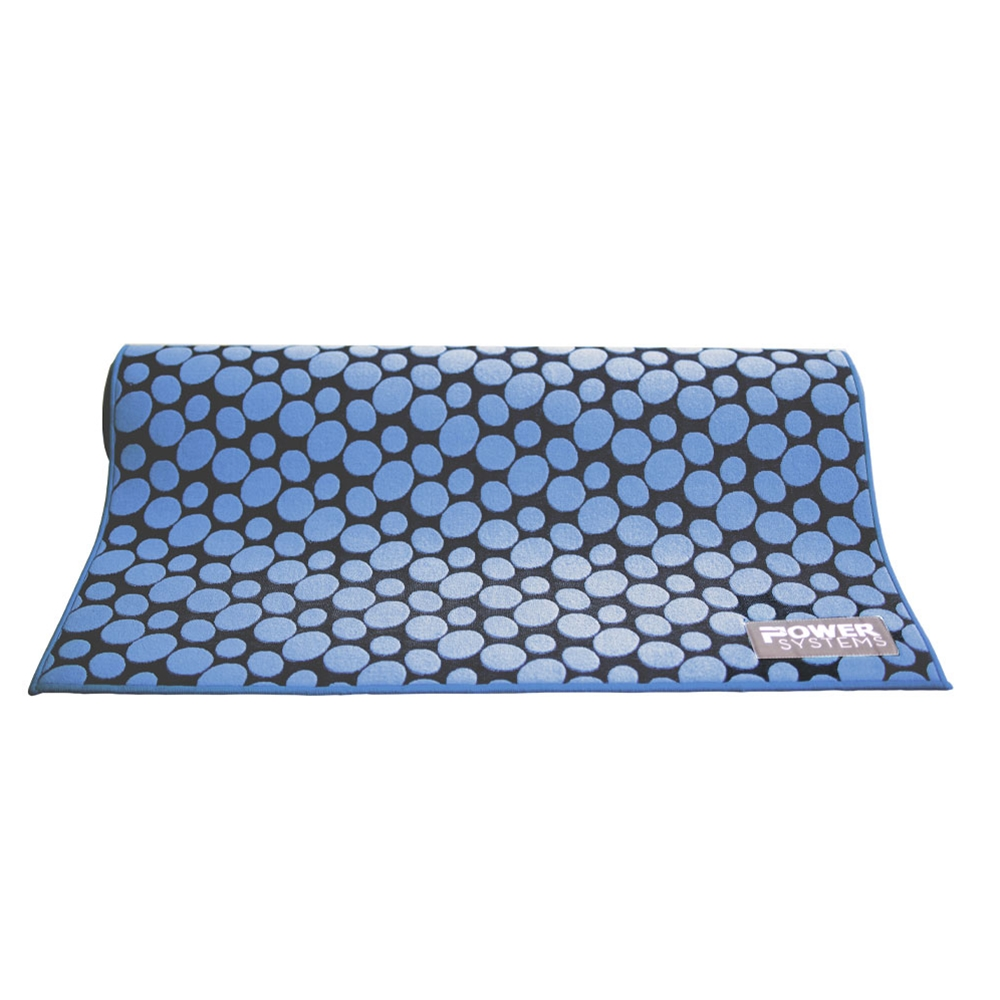 Jacquard Yoga Towel and Mat-10-Count Blue