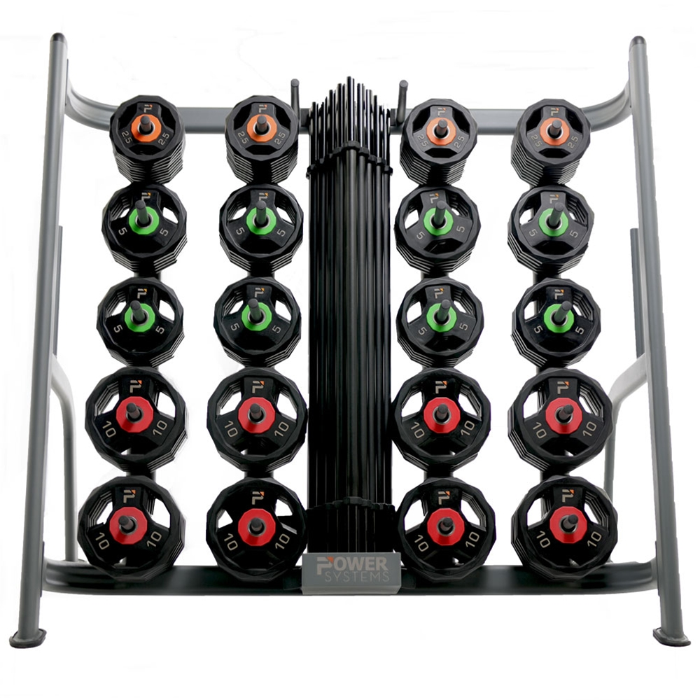 ProElite Pump Sets w/ Lock-Jaw Collars and Racks-20 Set w/ Rack