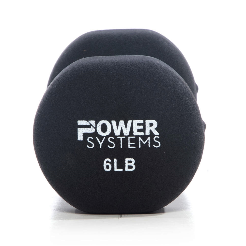Premium Neoprene Dumbbell Black-6 lbs