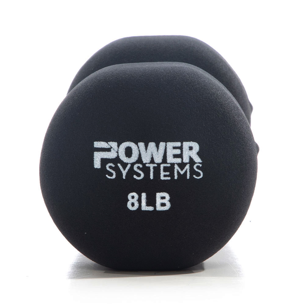 Premium Neoprene Dumbbell Black-8 lbs