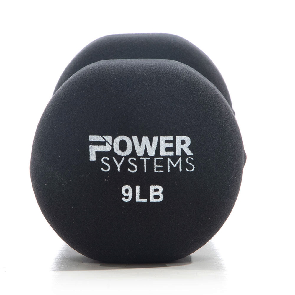 Premium Neoprene Dumbbell Black-9 lbs