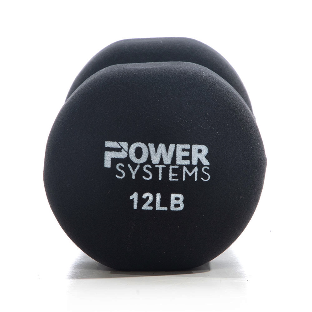 Premium Neoprene Dumbbell Black-12 lbs