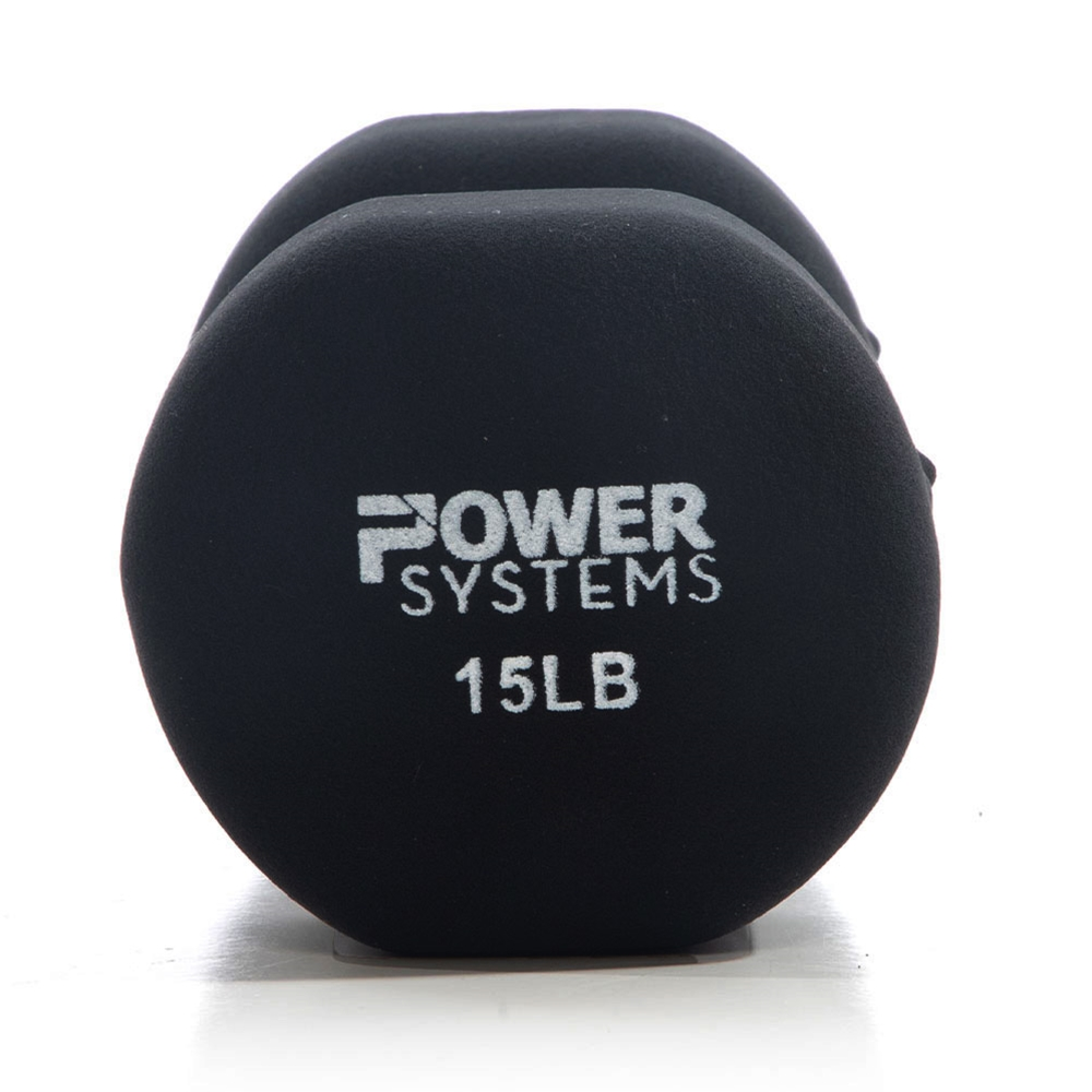 Premium Neoprene Dumbbell Black-15 lbs