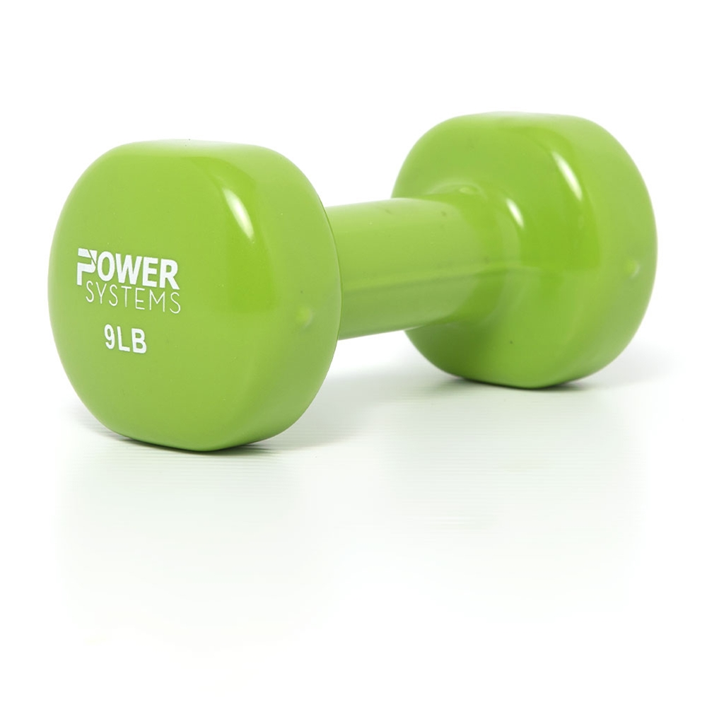 Power Systems Deluxe Vinyl Coated Dumbbell 10-Pound Single