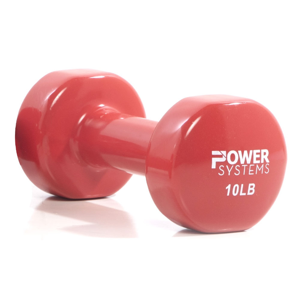 Deluxe Vinyl Dumbbell Prime-10 lbs Red