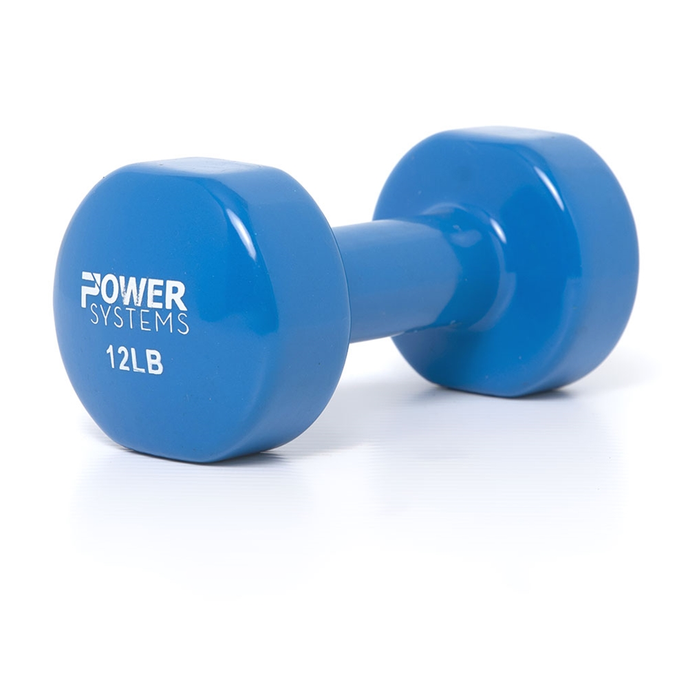 Deluxe Vinyl Dumbbell Prime-12 lbs Light Blue