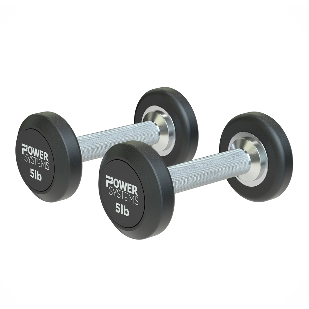 ProStyle Round Rubber Dumbbell-5 lbs Pair